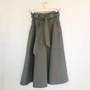 Banana Republic Heritage Belted Ponte Midi Skirt